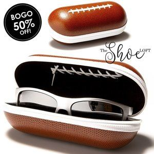 The Shoe Loft Accessories - Football Sunglasses Case with Zip Closure
